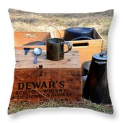 A Well Stocked Camp Throw Pillow
