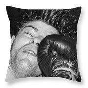 A Welterweight Uppercut Throw Pillow
