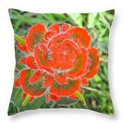 A West Coast Flower Throw Pillow