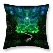 A Whimsical Forest Throw Pillow
