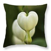 A White Heart Throw Pillow