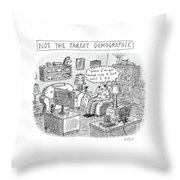A White, Middle-aged Male Is Deemed: Throw Pillow