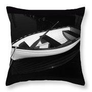 A White Rowboat Throw Pillow