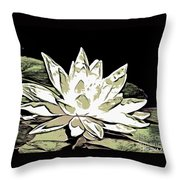 A  White Water Lily Throw Pillow
