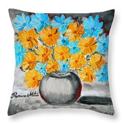 A Whole Bunch Of Daisies Selective Color II Throw Pillow