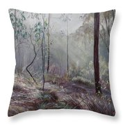 A Wickham Misty Morning Throw Pillow