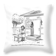 A Wife Talks To Her Beekeeper Husband Who Throw Pillow