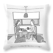 A Wife Writing Checks Throw Pillow