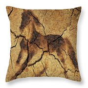 A Wild Horse - Wal Art Throw Pillow