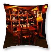 A Wine Rack Throw Pillow