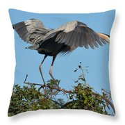 A Winged Stance Throw Pillow
