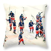 A Winning Salute Throw Pillow
