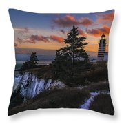 A Winter Dusk At West Quoddy Throw Pillow