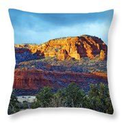A Winter Dusting On Bear Mtn Throw Pillow