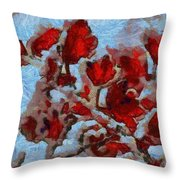 A Winter Eden Throw Pillow