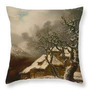 A Winter Landscape Throw Pillow