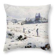 A Winter Landscape Holmstrup Throw Pillow