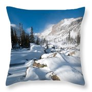 A Winter Morning In The Mountains Throw Pillow by Cascade Colors
