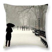 A Winter Stroll Throw Pillow