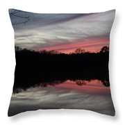 A Christmas Winter Sunset Throw Pillow