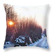 A Winter Wonderland Walk Throw Pillow