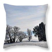 A Wintery Day Throw Pillow