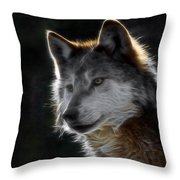 A Wolf 2 Digital Art  Throw Pillow