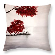 A Wolf's Cry To The Moon Throw Pillow
