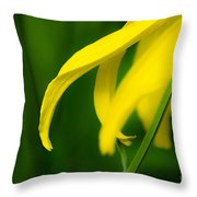 A Woman Passes By Throw Pillow