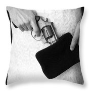 A Woman Scorned Throw Pillow by Edward Fielding