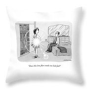 A Woman Shows Her Husband A Shining Lens Flare Throw Pillow