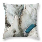 A Woman Sleeping In An Icy Crevasse Throw Pillow