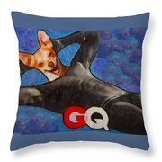A Woman's Best Friend  Throw Pillow