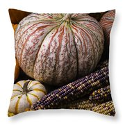 A Wonderful Autumn Harvest Throw Pillow