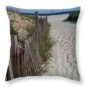 A Wonderful Beachday On Cape Cod Throw Pillow