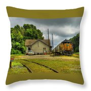 A Workhorse At The Madison Station Throw Pillow