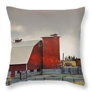 A Working Farm Throw Pillow