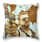 A World Of Pain Throw Pillow by Filippo B