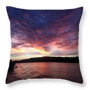 A Wreck Under Tow Throw Pillow by Christine Burdine
