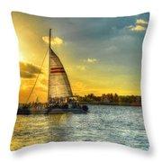 A Yacht Of Fun Throw Pillow