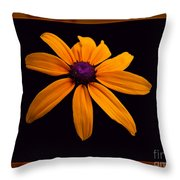 A Yellow Burst Of Sunshine Floral Photography Throw Pillow