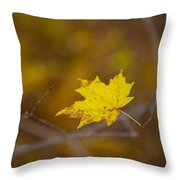 A Yellow One Throw Pillow