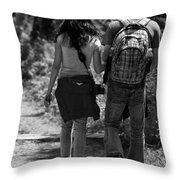 A Young Couple Throw Pillow