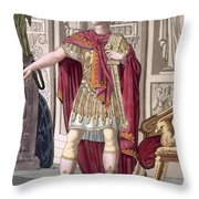 A Young Emperor In His Imperial Armour Throw Pillow
