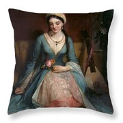 A Young Greek Woman  Throw Pillow