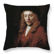 A Young Man Perhaps The Artist's Son Titus Throw Pillow