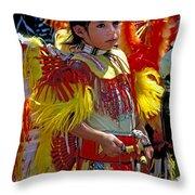 A Young Warrior Throw Pillow
