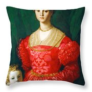 A Young Woman And Her Little Boy Throw Pillow