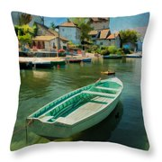 A Yvoire - France Throw Pillow