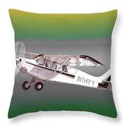 A1a Husky Aviat Airplane Throw Pillow